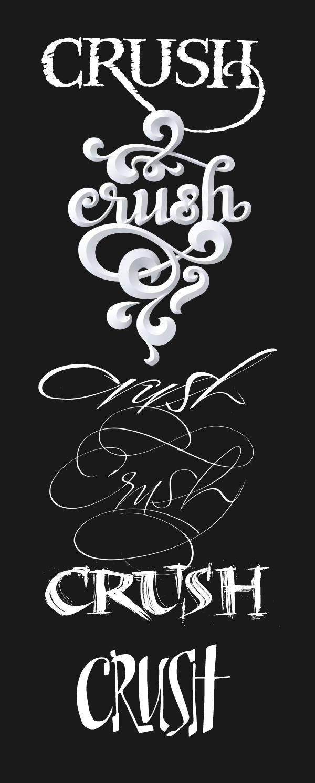 crush-lettering